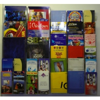 Combination 9 Wall Mounted Leaflet Holder System