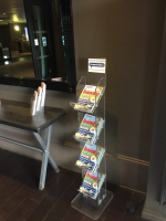 4 Tier A5 Perspex Magazine Stand