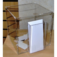 Suggestion Box With Trifold Dispenser