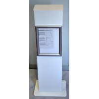 Opal Acrylic Floor Standing Suggestion Box Tower