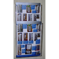 2 Pocket A4 Wall Mounted Leaflet Holder