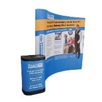 3x3 Curved Pop Up Exhibition Stand