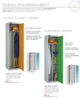 Lockers For Use In Clean Environments