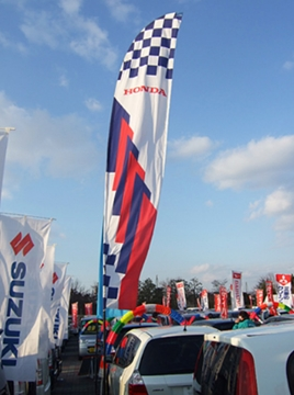 Car Forecourt Standard Sailflags Supplier