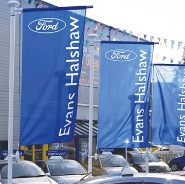 Car Dealership Promotional Flags Supplier