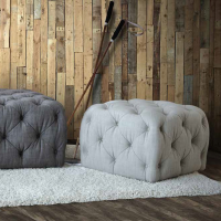 Alexander And James Buttoned Stools