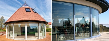 Curved Glass Sliding Patio Doors