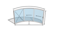 Curvaglide Curved Glass Sliding Doors W3F Specialist