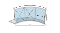 Curvaglide Curved Glass Sliding Doors W3-2F Specialist