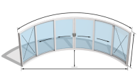 Curvaglide Curved Glass Sliding Doors W6F Specialist