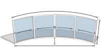 Curvaglide Curved Glass Sliding Doors W4