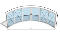 Curvaglide Curved Glass Sliding Doors  W6-4F Specialist