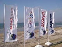 Re Usable Feather Flag Banners For Exhibitions
