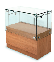 Contemporary Glass Display Counter Cabinets