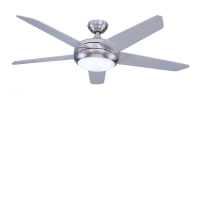 "Global 52"" Stainless Steel Neptune Ceiling Fan With Halogen Light And Remote Control"
