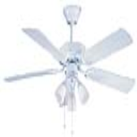 "Global 42"" Genoa Gloss White Ceiling Fan With 3 Lights"
