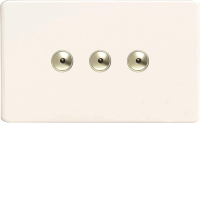 Varilight iDQi403MS 3 Gang 400W 1-Way Remote Control Dimmer On A Twin Plate