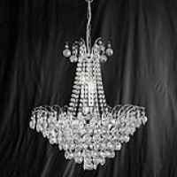 Searchlight 9071-52CC Limoges Chrome/Crystal 6 Light Chandelier