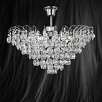 Searchlight 9070-48CC Limoges Chrome/Crystal Semi Flush 3 Light Chandelier
