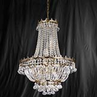 Searchlight 9112-52GO Versailles Gold Finish/Crystal 9 Light Chandelier