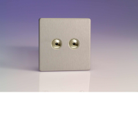 Varilight iDSS002S 2 Gang Slave For Remote Control / Touch Dimmer In Brushed Steel