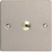 Varilight iFSi601M 1 Gang 600W 1 Way Remote Control / Touch Dimmerswitch In Brushed Steel