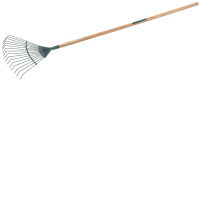 Draper 89099 Carbon Steel Lawn Rake With Ash Handle