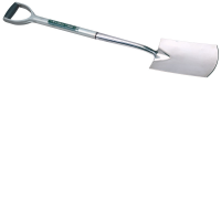 Draper 56631 Extra Long Stainless Steel Soft Grip Garden Spade
