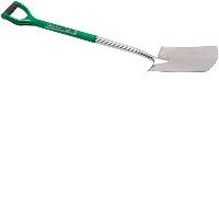 Draper 14420 Extra Long Stainless Steel Soft Grip Threaded Garden Spade With Offset