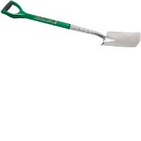 Draper 14418 Soft Grip Treaded Border Spade With An Offset Handle In Stainless Steel