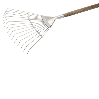 Draper 44983 Stainless Steel Lawn Rake With An FSC Ash Handle