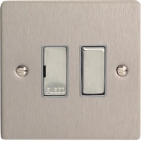 Varilight XFS6D 13A Switched Fused Spur In Brushed Steel