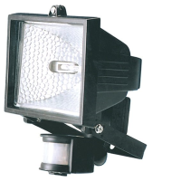150W Floodlight With PIR In Black