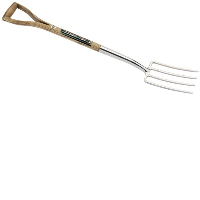 Draper 44975 Stainless Steel Border Fork With An FSC Ash Handle