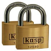 125 Premium Brass Padlocks - Twin Packs
