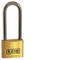 125 40mm Premium Brass Padlock - Long Shackle Keyed Alike K12540L63A1