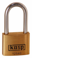 125 40mm Premium Brass Padlock - Long Shackle Keyed Alike K12540L40A1
