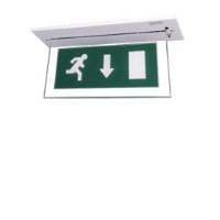 EML 8NMFP 8W Non Maintained Edge-Lit Recessed Exit Sign