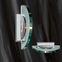 Searchlight 8035CC Glass And Chrome Wall Light