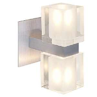 147479 Koko II 2x40W G9 Brushed Aluminium Wall Light