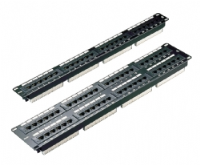 Excel 100-720 Category 5e 16 Port 1U Patch Panel - Black