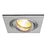 SLV Lighting 111361 New Tria I, GU10 Recessed Mains Voltage Square Downlight