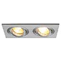 SLV Lighting 111362 New Tria II, GU10 Recessed Mains Voltage Rectangular Downlight