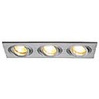 SLV Lighting 111363 New Tria III, GU10 Recessed Mains Voltage Rectangular Downlight