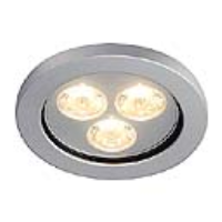 SLV Lighting 111982 Eyedown LED 3x 1w IP44 Recessed Downlight In Anodized Aluminium
