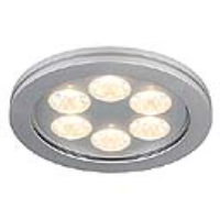 SLV Lighting 111992 Eyedown LED 6x 1w IP44 Recessed Downlight In Anodized Aluminium