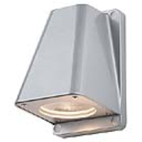 SLV Lighting 227194 Wallyx GU10 Outdoor Wall Light In Silver Grey