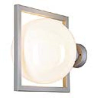 SLV Lighting 229502 Gloo Outdoor IP44 Wall Light In Silver Grey With ES Lamp Holder