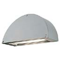 SLV Lighting 229894 Pema Outside Low Energy Wall Light In Silver Grey