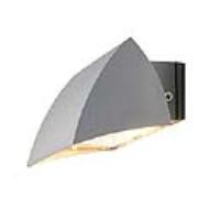 SLV Lighting 227032 Nova Wall Out Outside Wall Light In Silver Grey